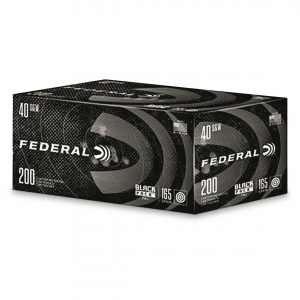 Federal Black Pack .40 S&W, 165 Grain FMJ, 200 Rounds C40165BP200