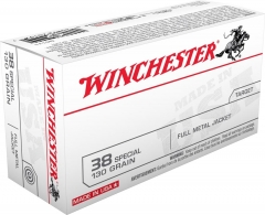 Winchester .38 Special 130 Grain FMJ, 50 Rounds Q4171