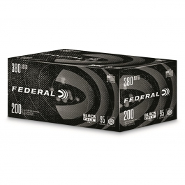 Federal Black Pack .380 Auto, 95 Grain FMJ, 200 Rounds C38095BP200
