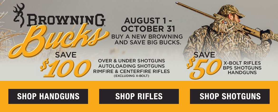 Browning Bucks Rebates