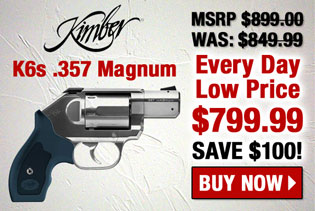 Kimber K6s Stainless .357 Magnum Double-Action Revolver 340002