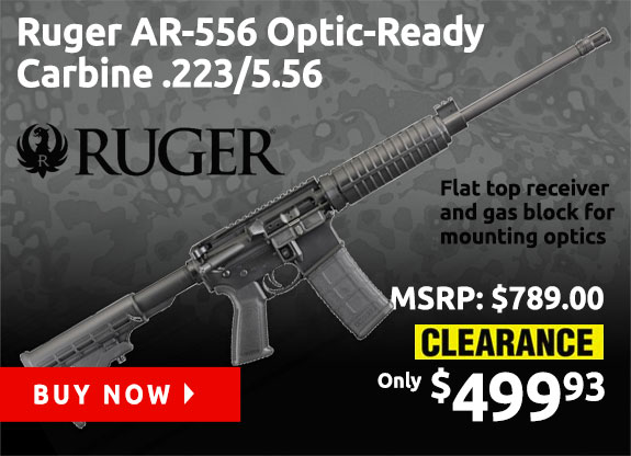 Ruger AR-556 Optic Carbine .223/5.56 Semi-Automatic 30rd 16in Rifle 8525