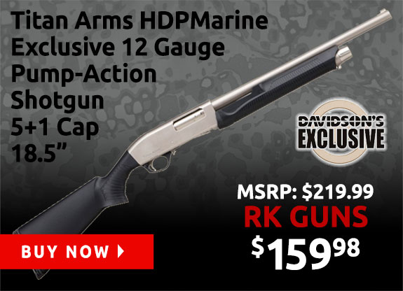 Titan Arms HDP Marine Exclusive 12 Gauge Pump Action 18.5in Shotgun TT3D-M